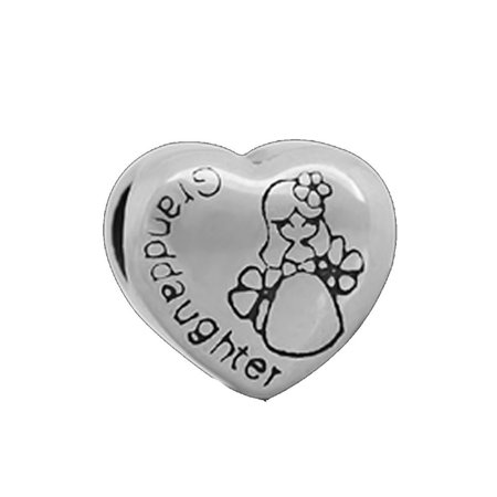 """Sexy Sparkles Stainless Steel """" Granddaughter """" Love Heart European Charm Bracelet and Necklace Compatible"""