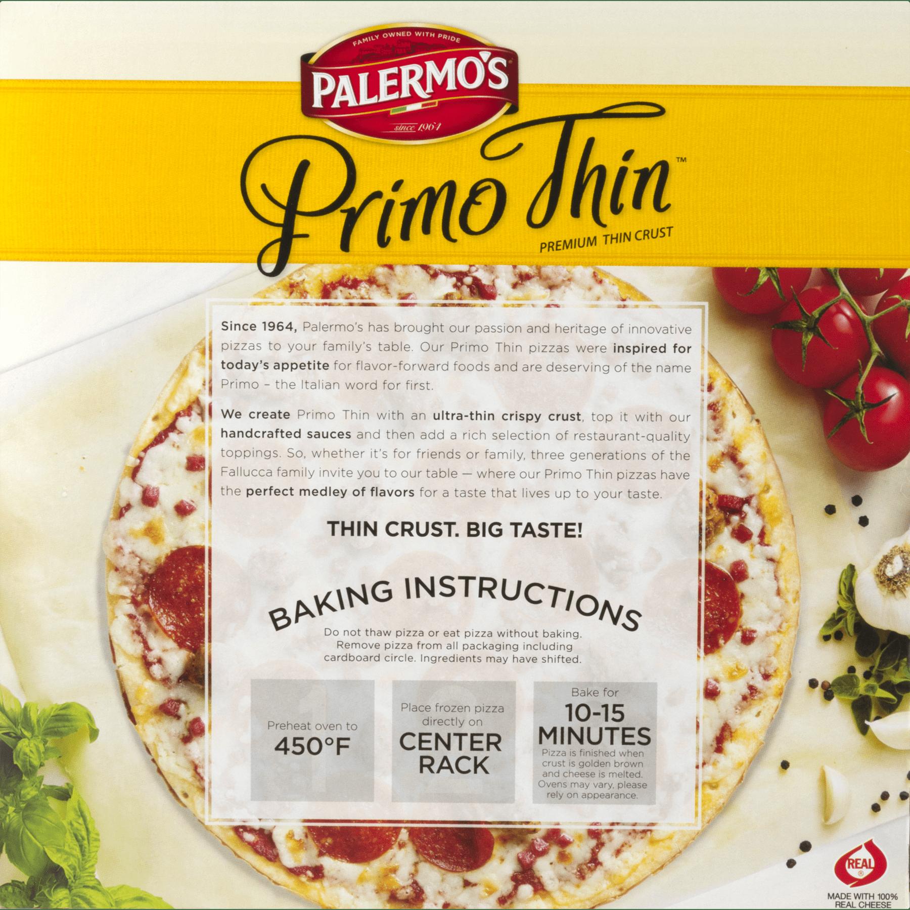 Palermo\'s Primo Thin Pizza Sicilian Premium Thin Crust, 14.2 OZ ...