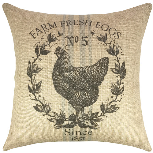 grain sack pillows farm fresh eggs