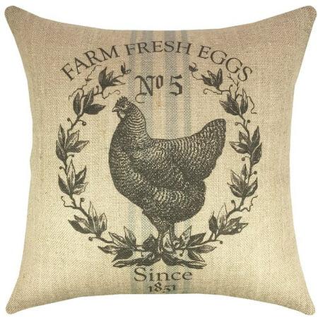 grain sack pillows farm fresh eggs