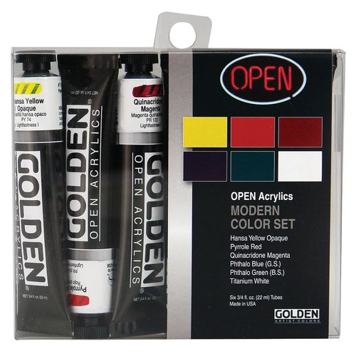 Golden Artist Colors Open Acrylic Introductory Modern Set