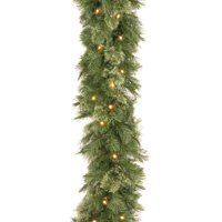 9' Wispy Willow Garland with Clear Lights
