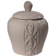 Donny Osmond Home Embossed Sweater Jar, Gray, 10""