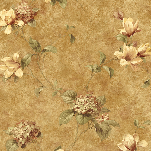Brewster Home Fashions The Cottage Hydrangea 33' x 20.5'' Floral Wallpaper