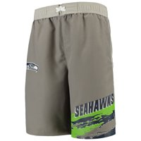 Seattle Seahawks Youth Heat Wave Swim Trunks - Charcoal