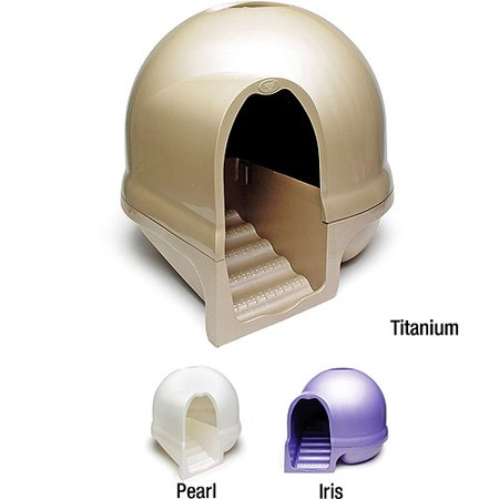 Booda Dome Clean Step Cat Litter Box, Nickel (Car Lighter Cover)