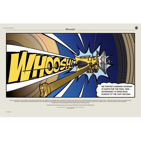 NASA Cassini: Whoosh! Poster Wall Art ()