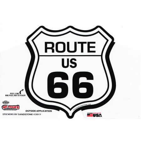 Route 66 Highway Sign Die Cut Sticker