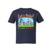 Pete The Cat Lets Ride Multi - Toddler Short Sleeve Tee