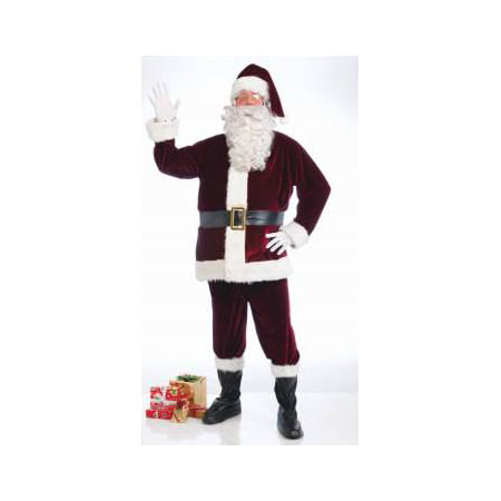 CRIMSON VELVET SANTA SUIT-XL - Santa Suit For Sale