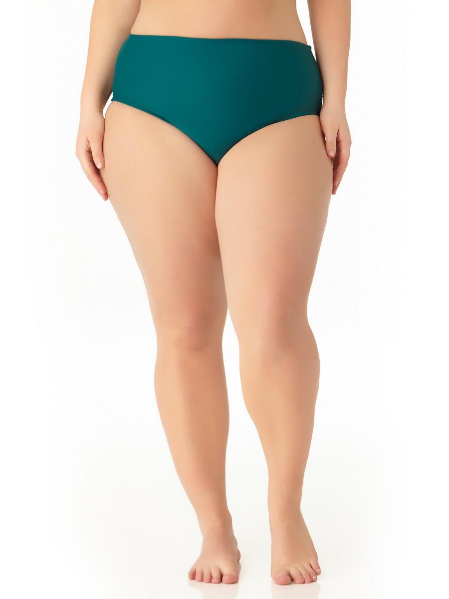 Catalina Women's Plus Size Teal High Waist Swim Bottom