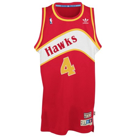 Spud Webb Atlanta Hawks Adidas NBA Throwback Swingman Jersey Red by