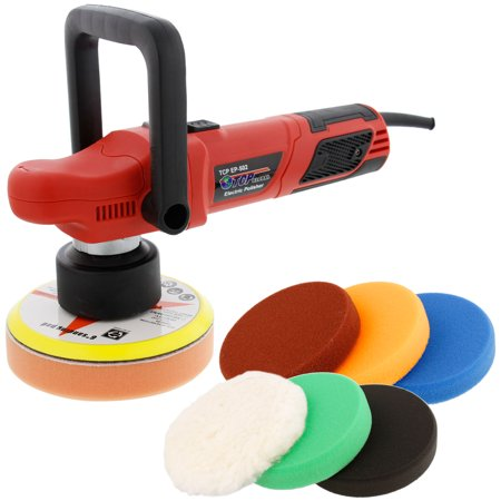 6   Variable Speed Random Orbit Dual Action Polisher With A 6 Pad Professional Buffing And Polishing Kit   Buff  Polish