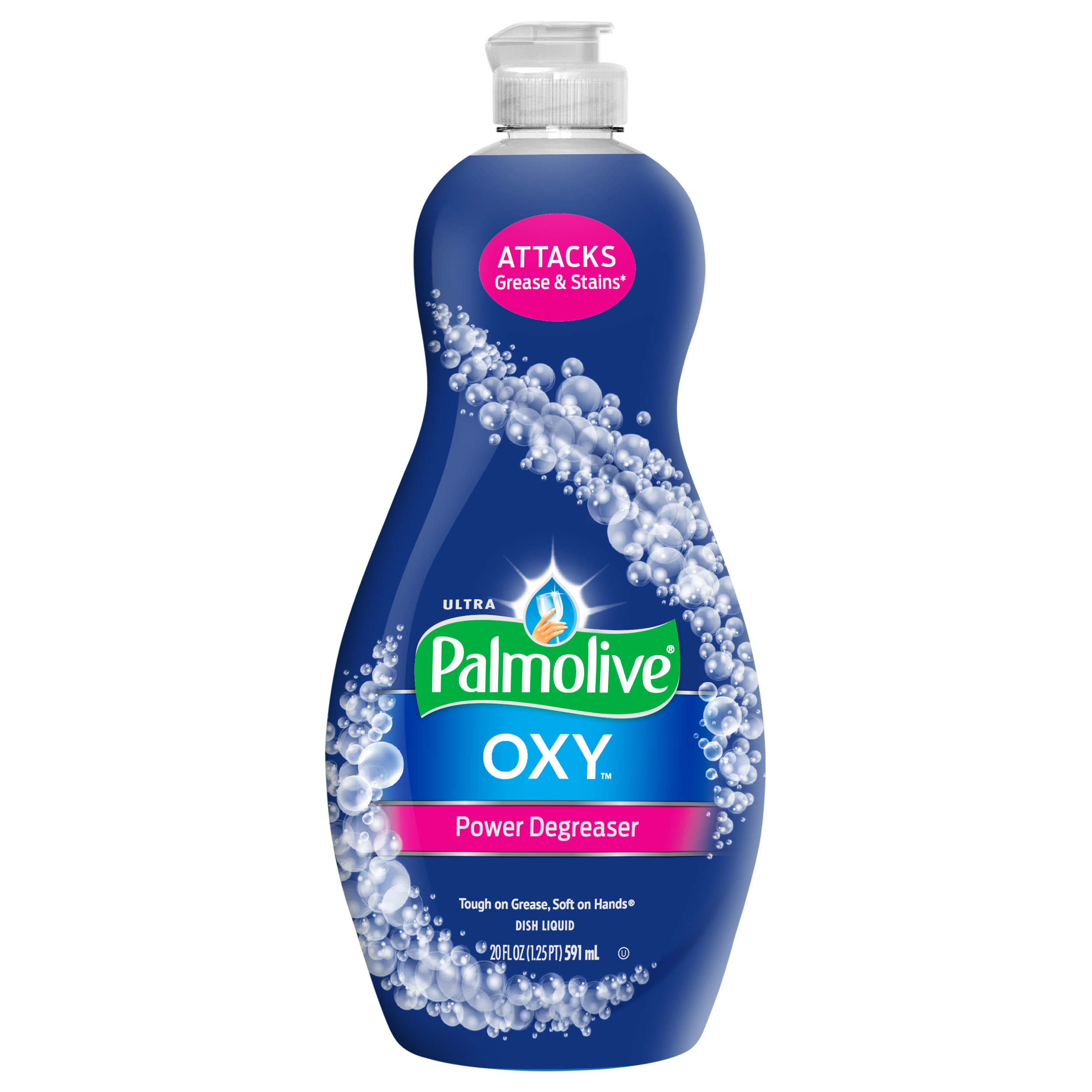 Palmolive Ultra Dishwashing Liquid Dish Soap, Oxy Power Degreaser - 20 fluid ounce