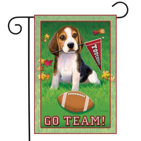 Go Team Beagle Garden Flag Dog Football Touchdown Decorative Banner 12
