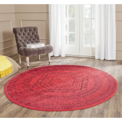 Safavieh Adirondack Red/ Black Rug (4' Round)