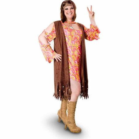 Lava Diva Funky Swirl Hippie Women's Plus Size Adult Halloween Costume