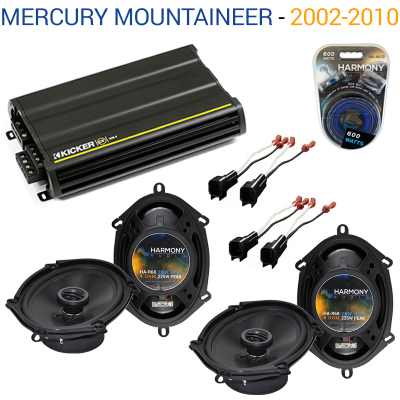 Mercury Mountaineer 06-10 OEM Speaker Replacement Harmony (2) R68 & CX300.4 Amp - Factory Certified Refurbished