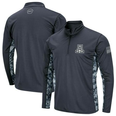 Arizona Wildcats Colosseum Youth OHT Military Appreciation Digital Camo Quarter-Zip Pullover Jacket - Charcoal thumbnail