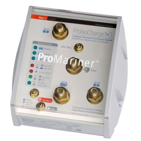 ProMariner ProIsoCharge Battery Isolator 120Amp 1-Alt 3-Bat - 12V - image 1 of 1