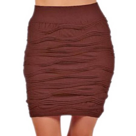 ribbed bodycon pencil mini skirt