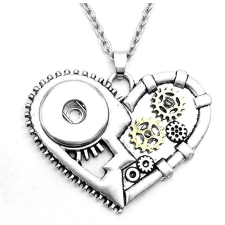 Pendant Interchangeable DIY Ginger Snaps PUNK LOVE necklace fit for 18mm Snap Button - Snap It Jewelry