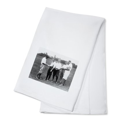 80s Golf Attire (Men in Golfing Attire Waging a Bet Photograph (100% Cotton Kitchen)