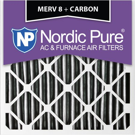 18x18x1 pleated merv 8 plus carbon ac furnace air filters qty 12 ...