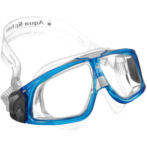 Seal Mask, Clear/Blue