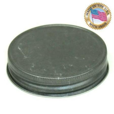 Pewter Color Ball/Mason Jar lids  10Pack