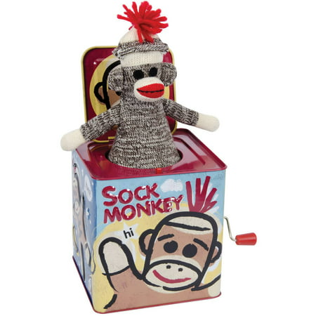 Schylling Sock Monkey Jack In The Box (Jack Jack From Incredibles)