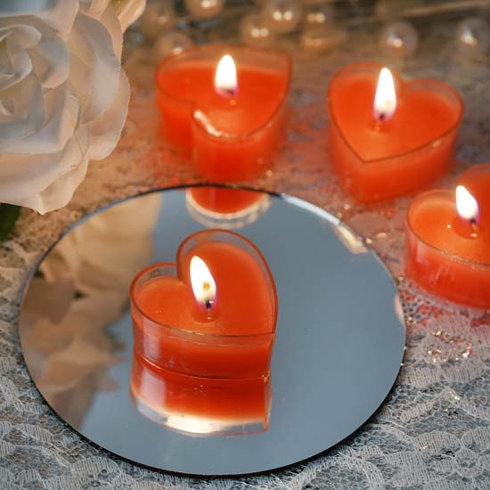 Efavormart Set of 12 ONE TRUE LOVE Heart Tealight Candles Ideal for Aromatherapy Weddings... by