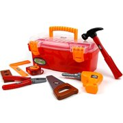 Toysery 24 Pieces Complete Kids Toy Tools Set - Fun Tool Box Kit For Kids, Toddlers with Handy Lightweight Suitcase - Educational Toy and Best Gift Idea.