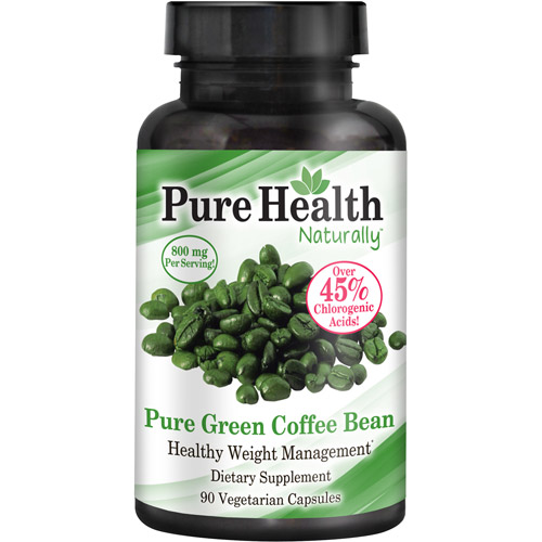 Pure Health Green Coffee Bean Extract - 800 mg Capsules - 90 Count