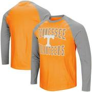 Tennessee Volunteers Colosseum Big And Tall Cajun Long Sleeve Raglan T-Shirt - Tennessee Orange/Gray