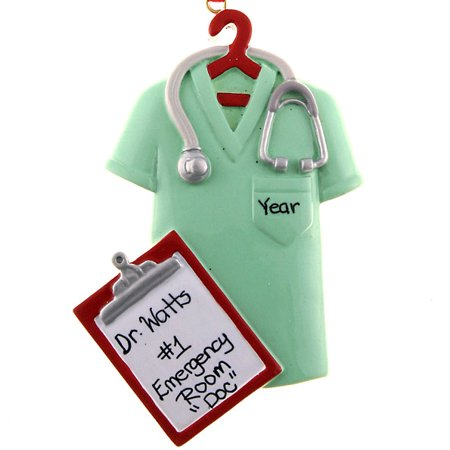 Scrubs Green Personalized Christmas Ornament DO-IT-YOURSELF - Personalized Baby Scrubs