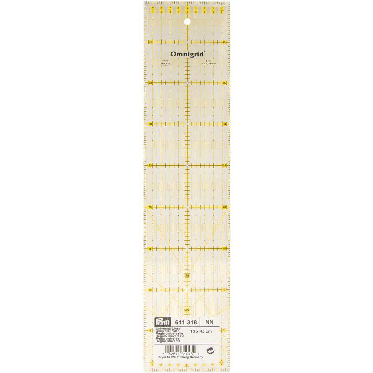 Prym Universal-Lineal 10 x 45 cm Omnigrid