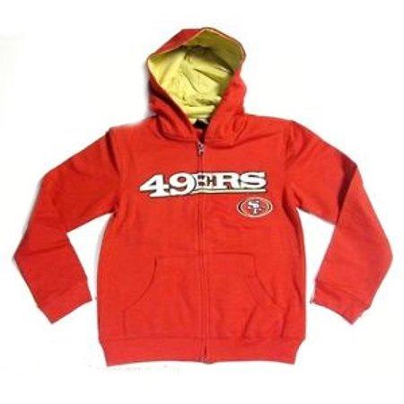 San Francisco 49Ers Kids Full Zip Embroidered Hoodie Sweatshirt  Large  7