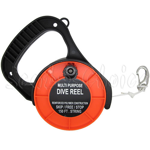 Scuba Choice Scuba Diving Multi Purpose Dive Reel 150' (Orange)