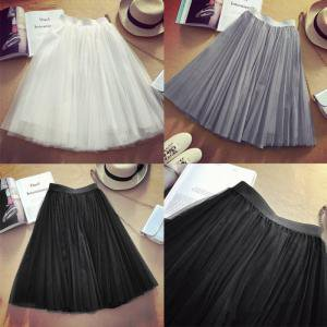 Women Princess Ballet Tulle Pleated Skirt Wedding Prom Fairy Bouffant Dress