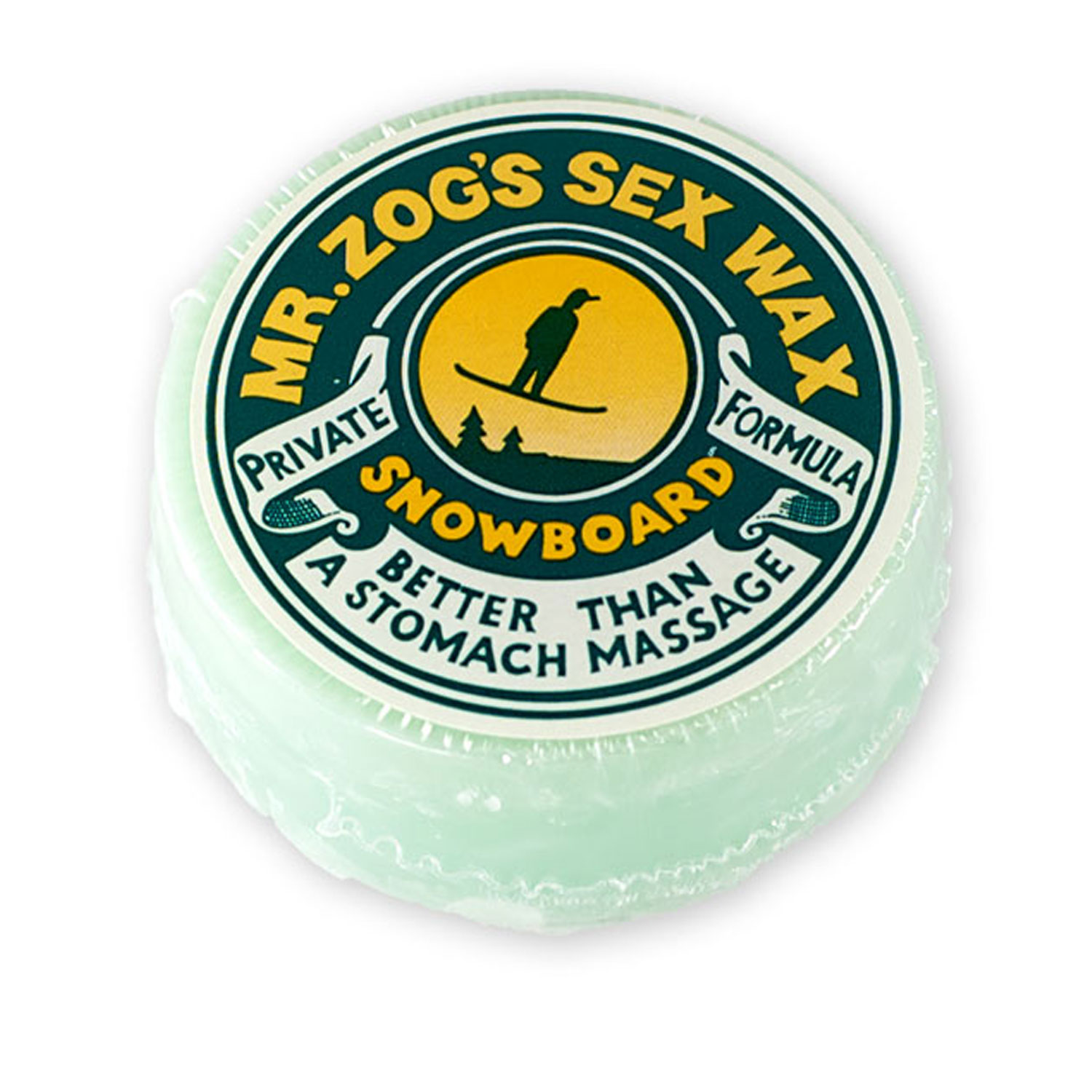 Sex Wax SNOWBOARD WAX COLD GREEN Mr. Zogs by