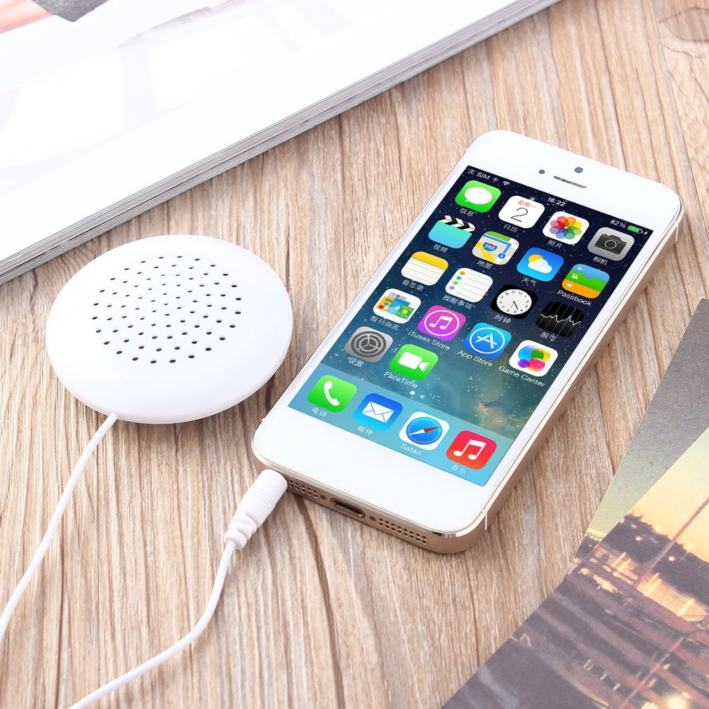 2017 New Mini White 3.5mm Pillow Speaker For MP3 MP4 Player For IPhone For  IPod