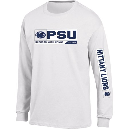 9870275a Men's Russell White Penn State Nittany Lions Team Long Sleeve T-Shirt