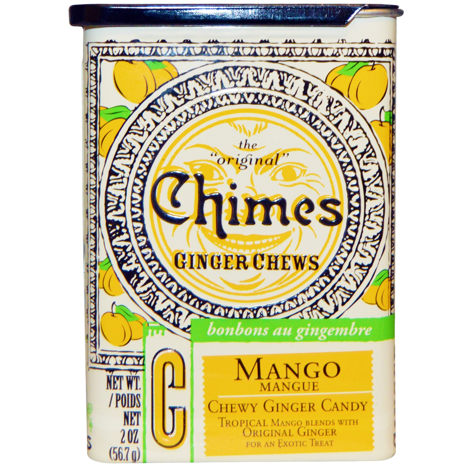 Chimes, Ginger Chews, Mango, 2 oz(pack of 12)