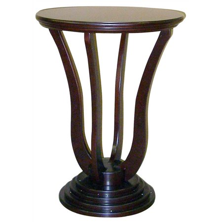 """26.5 Tall Wooden End Table """"Dita"""" with Dark Cherry finish"""