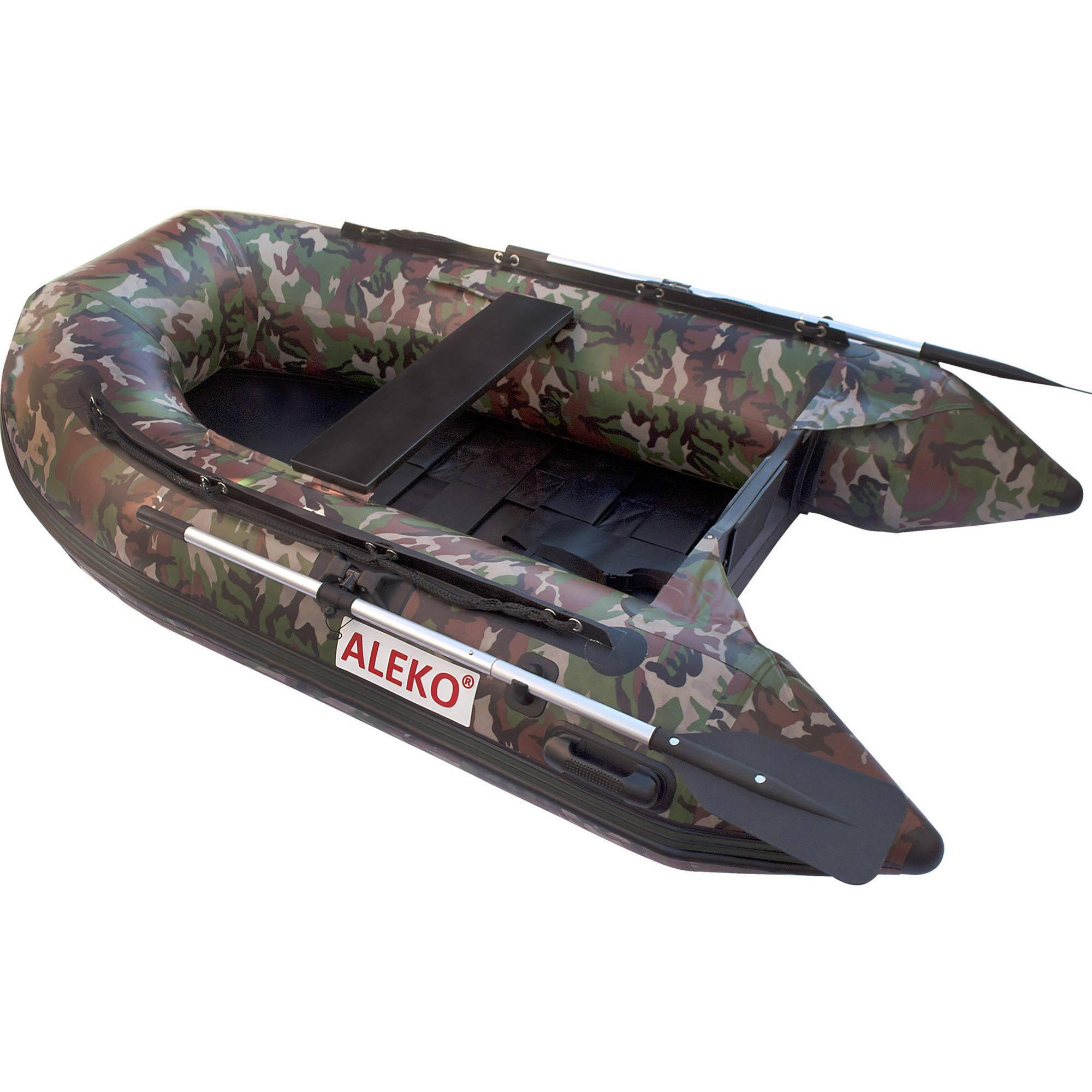 ALEKO Inflatable Boat - Pre-Installed Slide Floor - 3-Person - 8.4 Feet - Camouflage