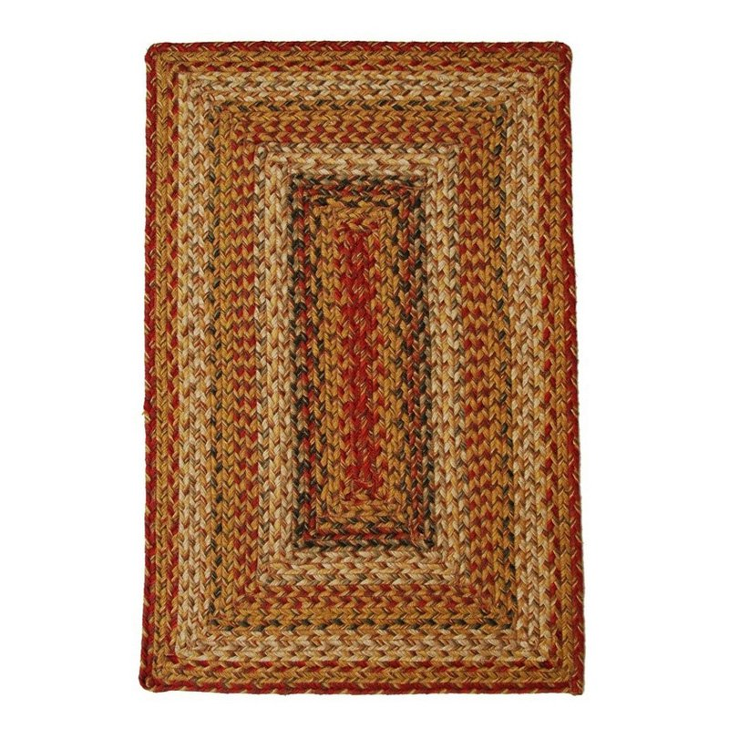 Homespice Decor Mustard Seed Braided Area Rug