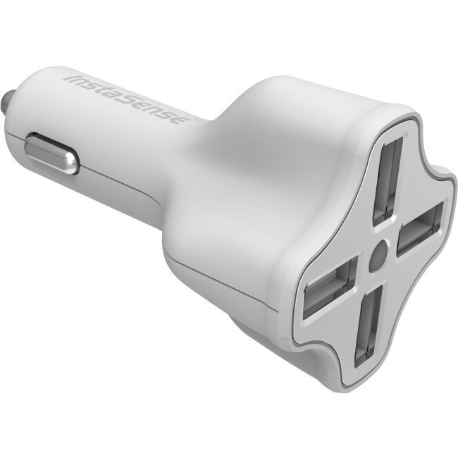 Digipower 4 Port Usb Car Charger With Instasense Technology Pc-406i - 31 W Output Power - 12 V Dc Input Voltage - 5 V Dc Output Voltage - 6.20 A Output Current (pc-406i)
