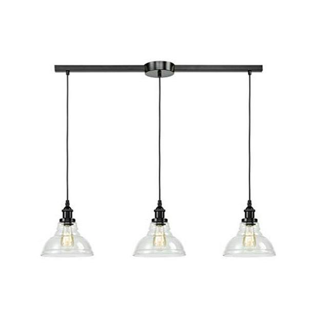 Eul Industrial Kitchen Island Lighting Fixture Pendant Lights Oil Rubbed Bronze 3 Lights Walmart Com Walmart Com