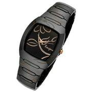 Ladies Bloom Series Black Ceramic Rose Gold Accents Watch Rc2377brg